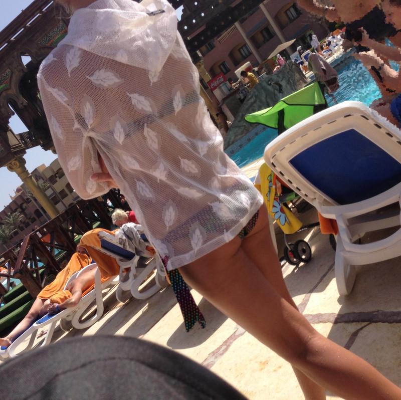 hotel pool milf in a lovely bikini