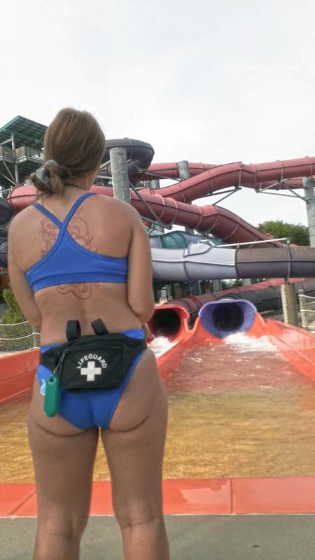 lifeguard hottie in water park