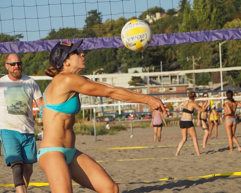 awesome beach volleyball girls in bikinis