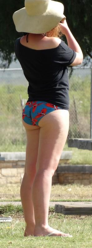 bikini girl and her friends at the pool