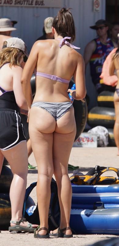 river tubing babes in bikini & swimwear
