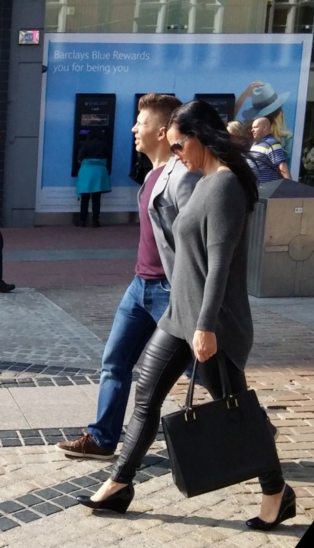 leather leggings in the sun