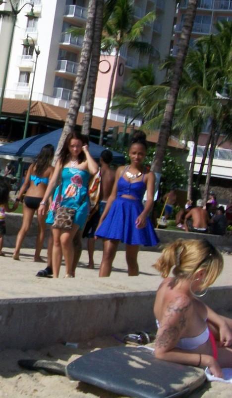 waikiki beach girls in candid bathing suits