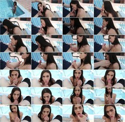 OnlyFans: Fiamurr - Deepthroat blowjob from beauty by the pool: [UltraHD 4K 2160p   1.20 GB]