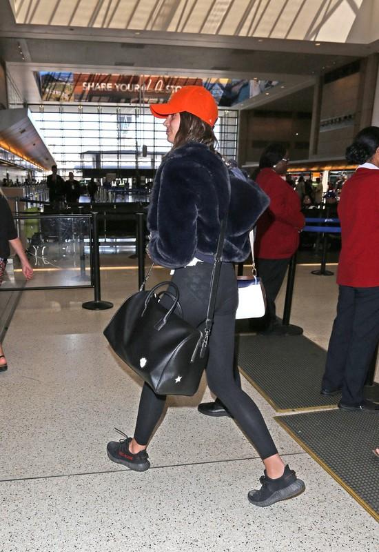 hot model Taylor Hills in see-through leggings