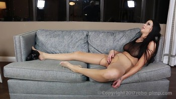 Big titted stepdaughter fell under the influence of her father and obeys him being hypnotized