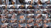 Bare Feet In Sneakers Seduction And Rent Paying With Her Sweaty Feet - Ginger