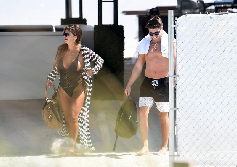 hot milf Teresa Giudice in 1 piece swimsuit