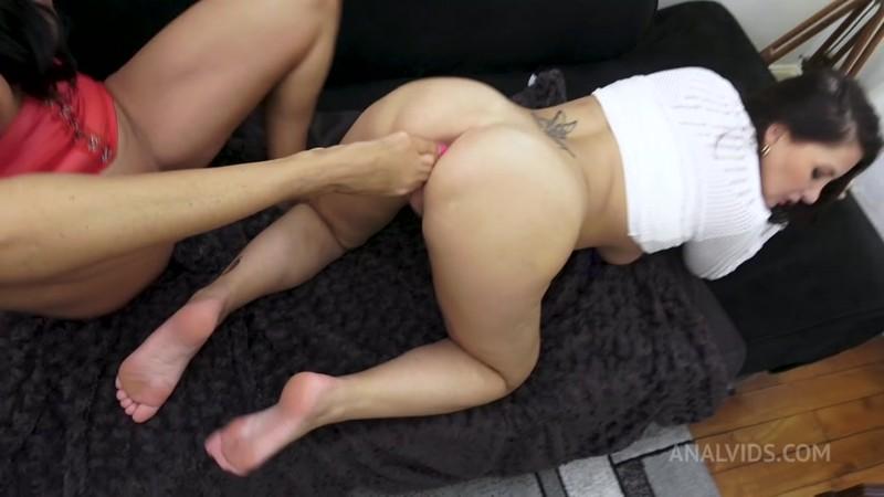 Anna Polina, Ania Kinski - 3some. Fetish anal sextape with cumshot on feet - swallow cum RA048 [HD 720p]