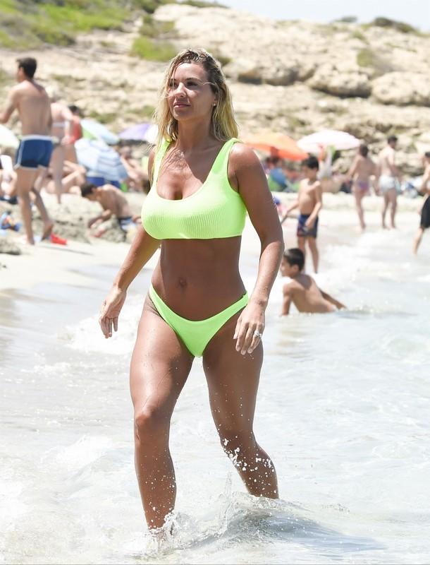 british milf Christine McGuinness in green bikini