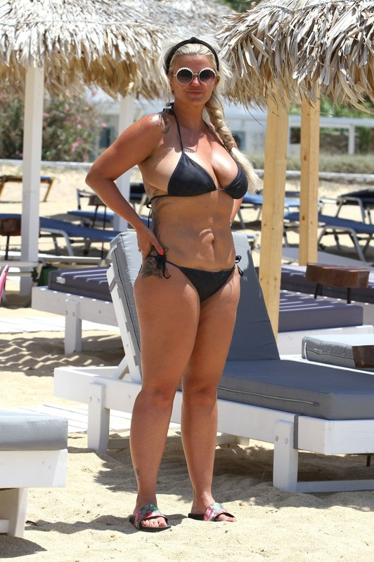 busty milf Kerry Katona in sexy black bikini