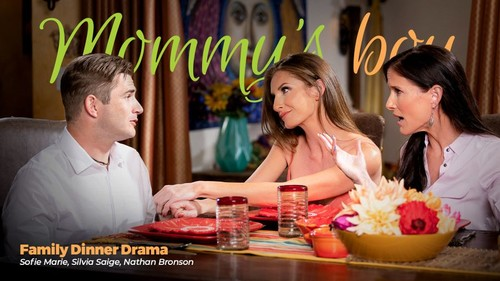 MommysBoy – Silvia Saige And Sofie Marie Family Dinner Drama [FullHD 1080p]