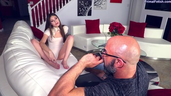 Cock Teasing Step-Daughter Conditioned to Do Whatever Daddy Wants