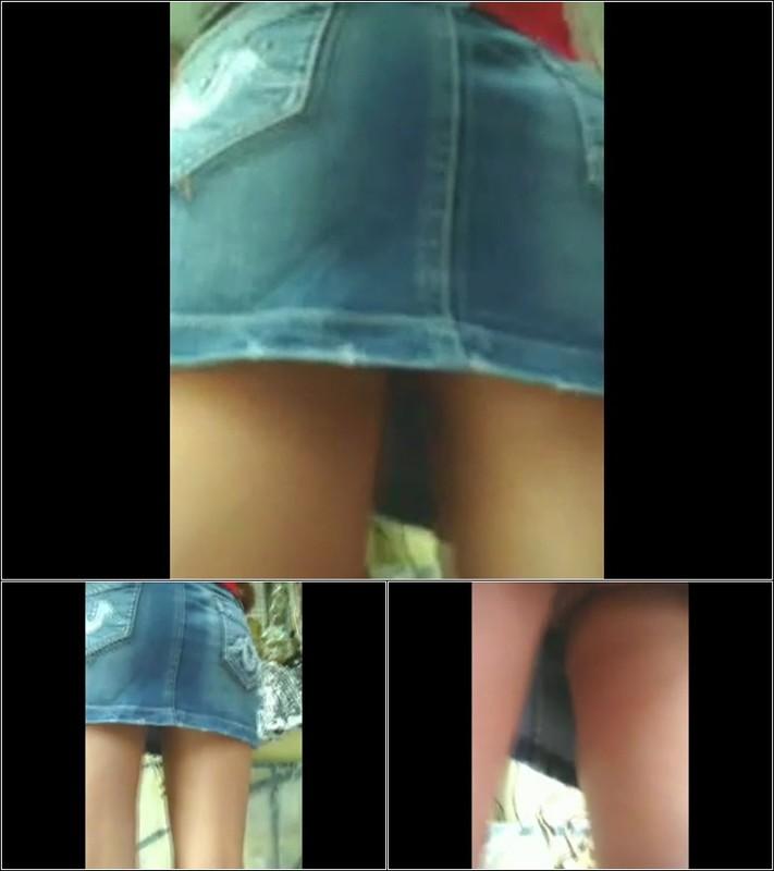 Upskirt No Panties  4541