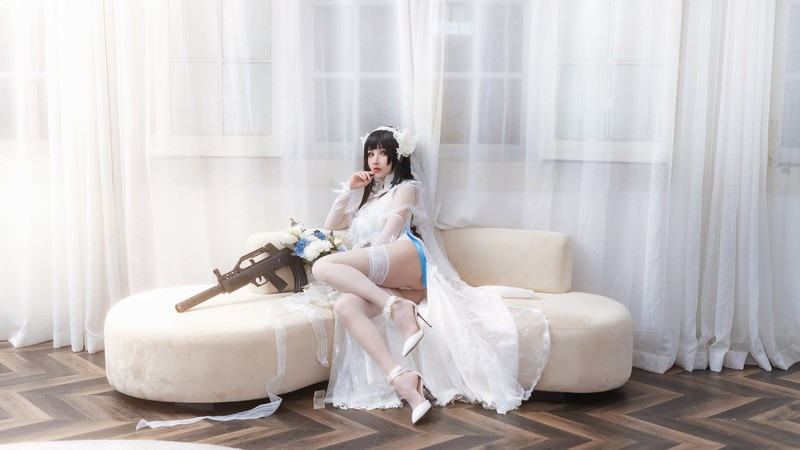 rioko凉凉子 - 95式-花嫁[118.8MB] 知名Coser-第1张