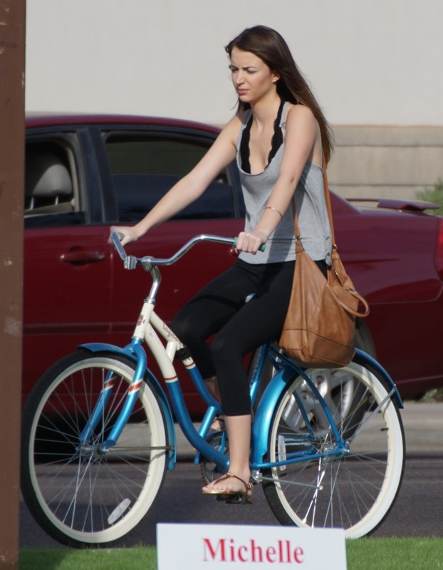 cyclist hottie in black lycra pants