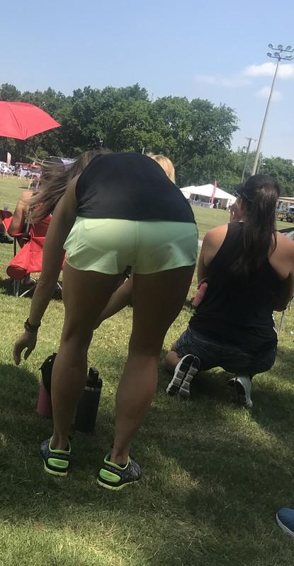 soccer milf booty in gym shorts