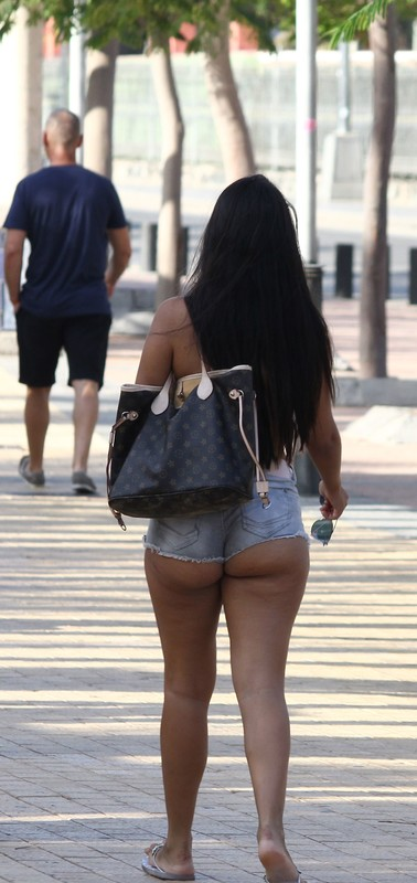 indecent booty in cheeky shorts