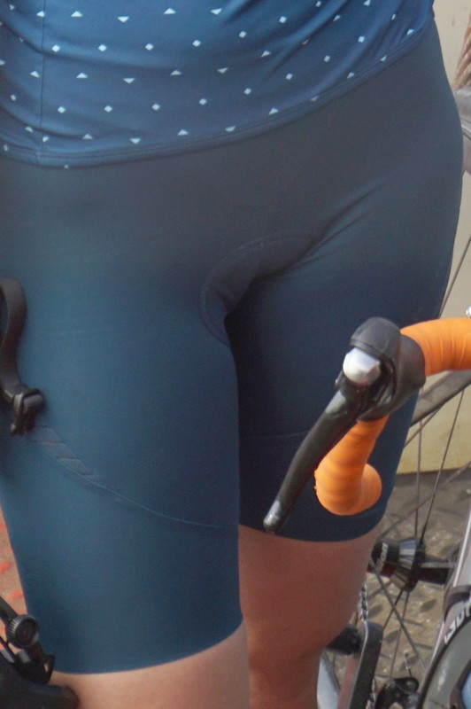 cyclist babe in naughty spandex shorts