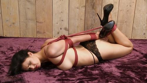 Yasmine - Elbow bondage hogtie